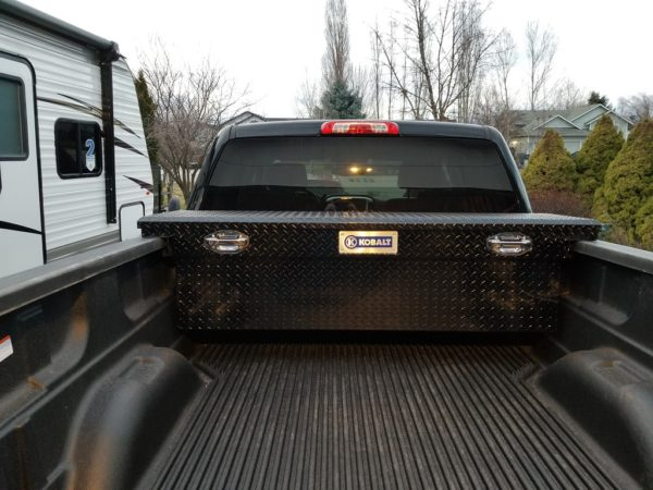 Truck Tool Box installed.