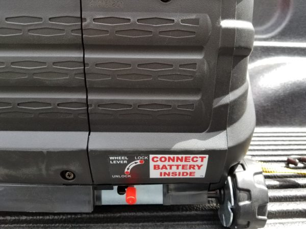 Battery access cover.